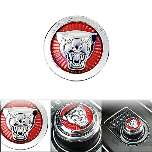 Exotic Store 42 MM Metal (not Plastic) Jaguar F-Pace XJ XE XF Gear Shift Knob shifter Center Emblem Cover SUPERCHARGED Badge Growler Car Gear Shift Knob Cover Emblem Sticker by Exotic Store