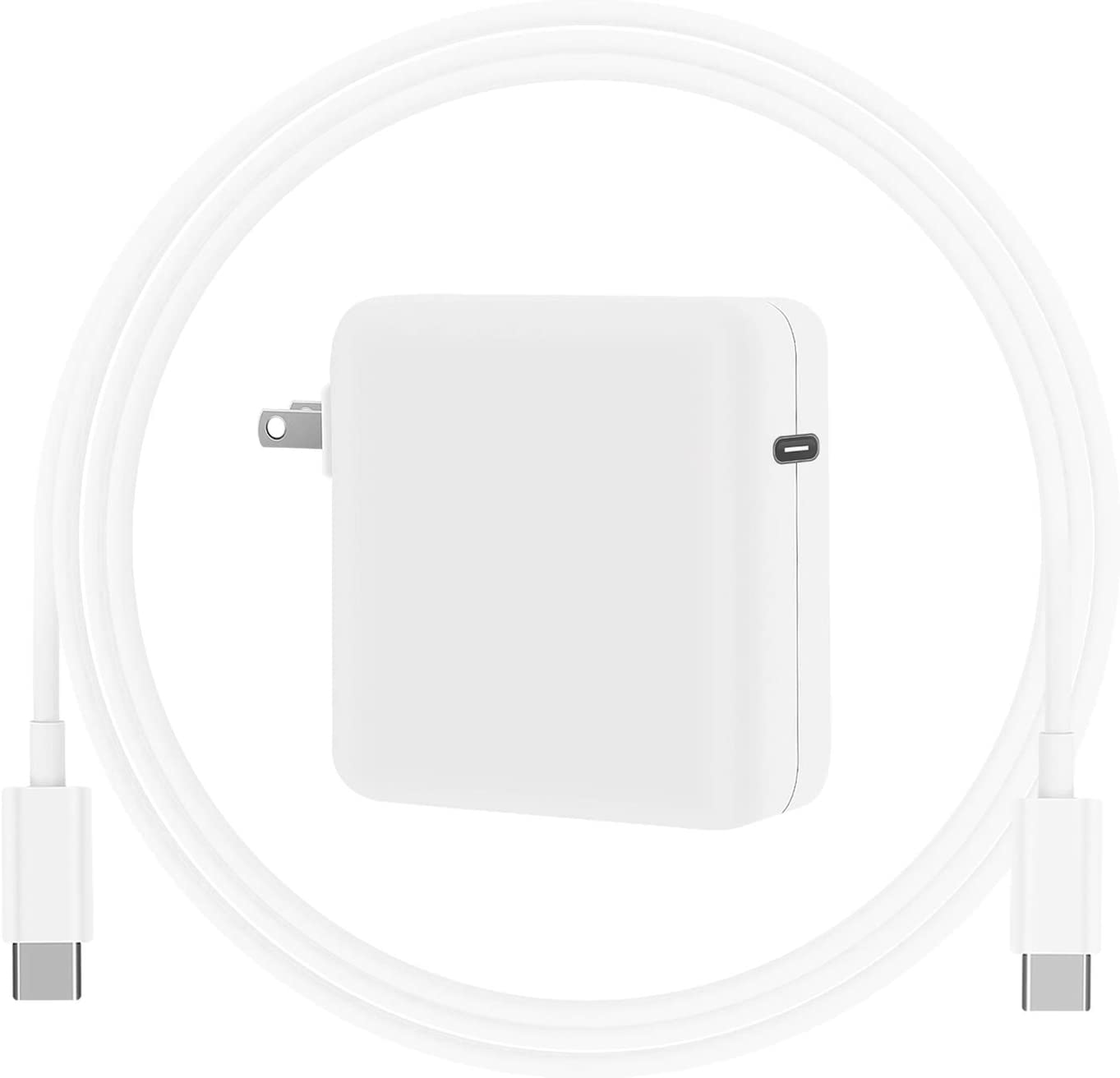 Replacement Mac Book Charger, 61W Laptop Charger USB C Power Adapter with Cable for MacBook Air 13/12 inch 2020, 2019, 2018, iPad Pro 12.9 11
