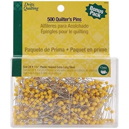 Dritz Quilting Quilter's Pins Econo Pack 1 3/4 500/Pkg 3009 (1-Pack) Prym Consumer USA Inc.