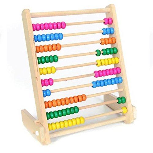 KateDy 1 pc Wooden Abacus Math Toy Montessori Mathematics Teaching AIDS Baby Early Educational Toy for (2nd Grade Halloween Crafts)