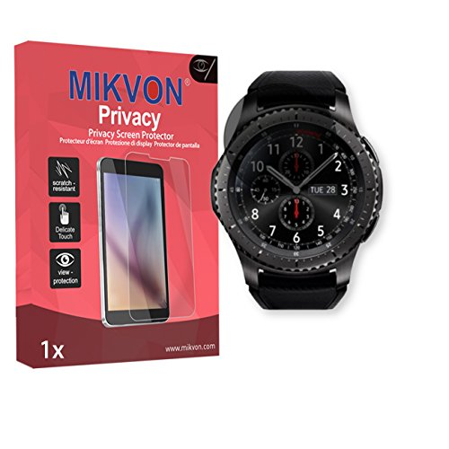 Price comparison product image Mikvon Privacy Screen Film for Privacy protection black for Samsung Gear S3 Frontier - PREMIUM QUALITY