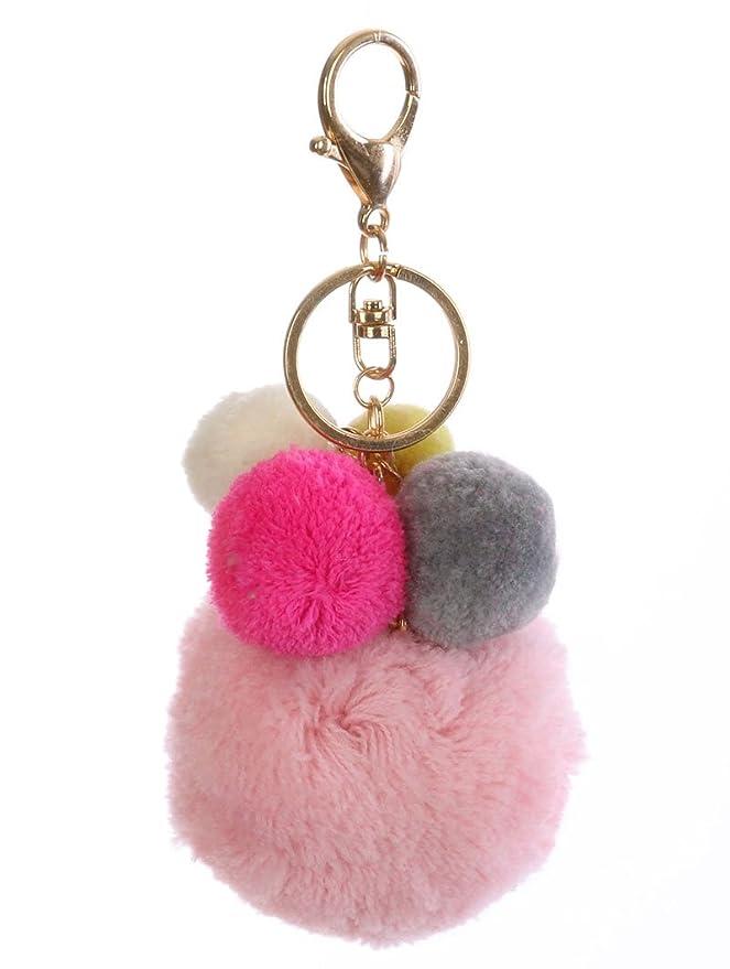 Amazon.com  Pom Pom Key Chain Handbag Charm Poms Key Fob Charm (Pink  Multi)  Clothing 7fdf6d1ce999