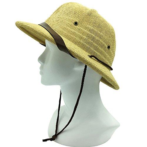 kainozoic Kids Safari Pith Helmet Costume Party Hat Biking Hiking Jungle Explorer (Explorer Costume For Boys)