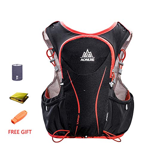 POJNGSN Hydration Pack Backpack Rucksack Bag Vest Harness Water Bladder Hiking Camping Running Race Sports 5L Set B by POJNGSN (Image #2)