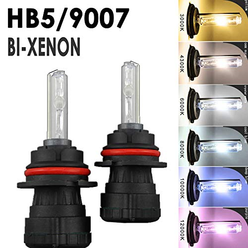- O-NEX BI-Xenon HB5 9007 HID Bulbs 35W AC Dual Beam Hi/Lo H/L Headlight Replacement 6000K Crystal White