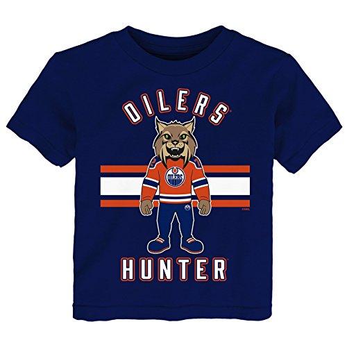 Outerstuff NHL Edmonton Oilers Children Mascot Life Short Sleeve Tee, Medium(5-6), Navy ()