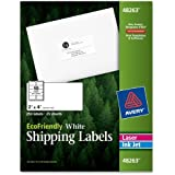 Avery EcoFriendly Mailing Labels for Laser and Ink Jet Printers, 2 x 4 Inches, White, Permanent, Pack of 250 (48263)