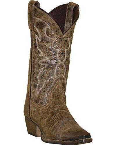 Abilene Womens Rawhide Da Stivaletto Nailhead Cowgirl Snip Toe - 5029 Earth