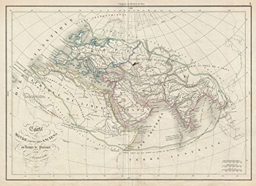 Historical 1850 Delamarche Map of the Ancient World: Europe, Africa, Asia |18 x 24 Fine Art Print | Antique Vintage (Delamarche Map)