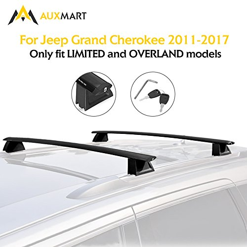 auxmart roof rack crossbars for jeep grand cherokee 2011. Black Bedroom Furniture Sets. Home Design Ideas