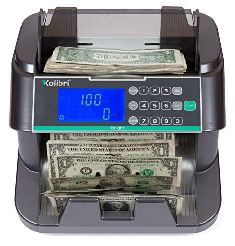 Kolibri Knight Money Counting Machine, Bill Counter with UV, MG and IR, Top Load (Counter Money)