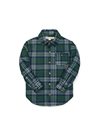 Hope & Henry Boys Organic Single Pocket Twill Shirt