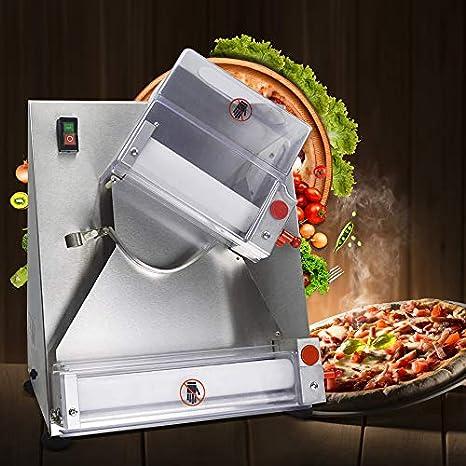 welljun automático y eléctrico/hojeadora Machine de rodillo de masa de pizza, pizza Panificadora: Amazon.es: Amazon.es