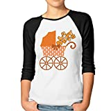 Fgjjklft Lazy Days Happy Hour Dress Casual Womens Tops Raglan Shirt