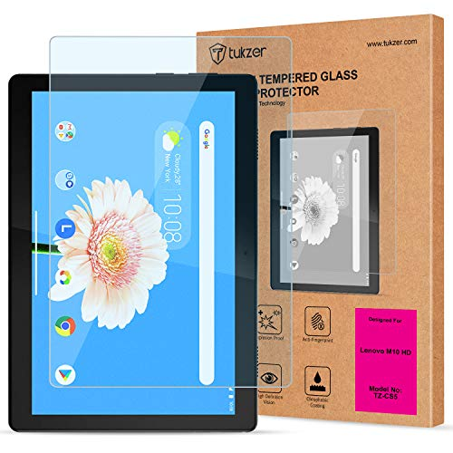Tukzer Tempered Glass Screen Protector for Lenovo Tab M10- HD Tablet TB-X505F TB-X505L (10.1″ inch), Anti-Scratch, Bubble-Free, Premium 9H Hardness [Will NOT Fit 605LC/605FC/M10-FHD].