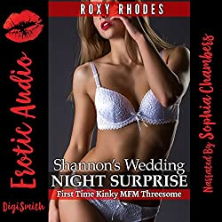 Shannon's Wedding Night Surprise: First Time Kinky MFM Threesome