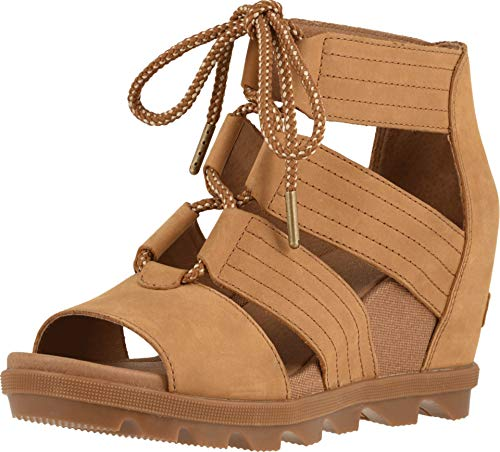 Sorel Women's Joanie II Lace Wedge Sandals, Camel Brown, 8.5 M US