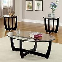 247SHOPATHOME Idf-4848-3PK Living-Room-Table-Sets, Black