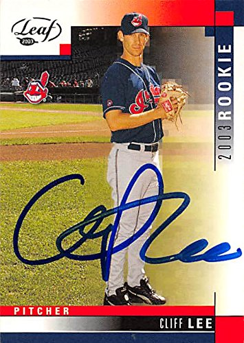 Autograph 157521 Cleveland Indians Ft 2003 Leaf Rookie No. 274 Cliff Lee Autographed Baseball Card (Lee Baseball Autographed Cliff)