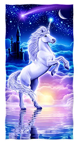 Dawhud Direct Cotton Beach Towel (Unicorn) ()