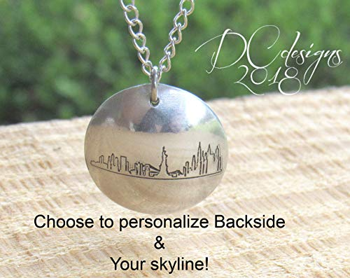 (Skyline Necklace for Women, Skyline Pendant Necklace, Skyline, Skyline Jewelry, Necklace for Women, Jewelry Gifts for Women, Mothers Day Gift)
