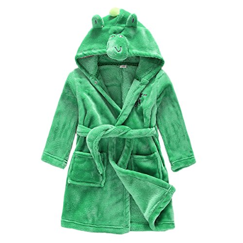Toddler Baby Boys Girls Cartoon Bathrobe Flannel Robe Winter -
