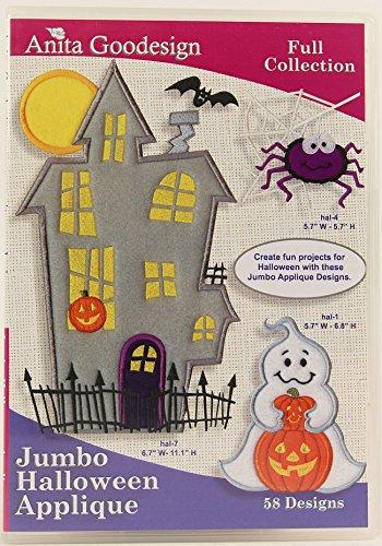 Anita Goodesign ~ Jumbo Halloween Applique ~ Embroidery Designs CD -