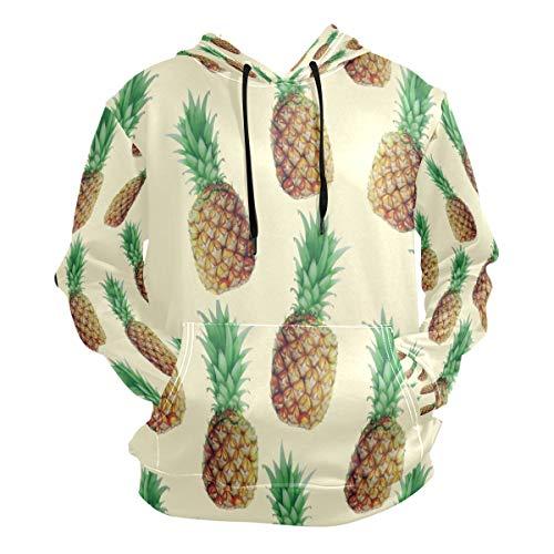 Pineapple Artist Hoodie 3D Pullover Hooded Long Sleeve Workout Sweatshirts