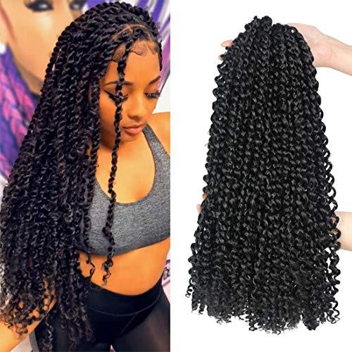 Passion Twist Hair 18 Inch 6 Packs/Lot Water Wave Crochet Hair Passion Twists Long Bohemian Hair Passion Twist Crochet…
