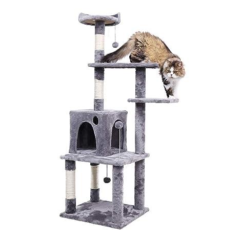 Speedy - Hamaca para gatos con diseño de árbol de gato con rascador y centro de