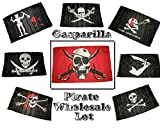 Cheap Wholesale Lot of 8 Gasparilla Pirate Calico Brethren Poison Blackbeard Tew Reh Hat Scarf Patch Jolly Roger 3'x5′ Polyester Flags