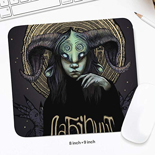 Colorful Non-Slip Rubber Base Pan's-Labyrinth-(3)- Rectangle Mouse Mat Customized for Laptop,Computer & PC 7.9x8.9 Inch