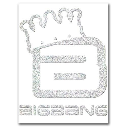 カッティングステッカーL [BIGBANG]冠 シルバーラメ