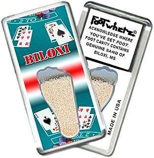 "product image for Biloxi ""FootWhere"" Souvenir Fridge Magnet. Made in USA (BX202 - Blackjack)"