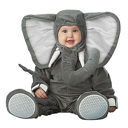 Toddler Baby Gray Elephant Animal With Trunk Outfit Christmas Costume]()