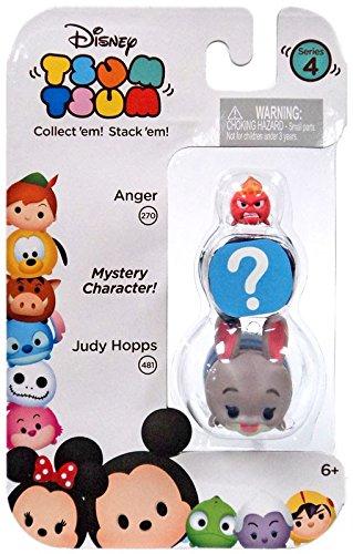 "Disney Tsum Tsum Series 4 Anger & Judy Hopps 1"" Minifigure 3"