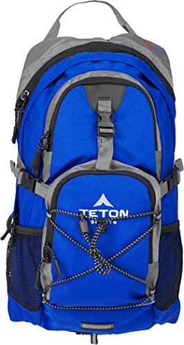 TETON Sports Oasis 1100 2 Liter Hydration Backpack Perfect for Biking, Hiking, Climbing, and Hunting; Bright Blue