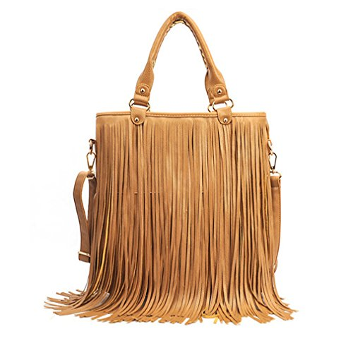 G&T Autumn Personality Women Bags Shoulder Bag Cross-body bag PU Bag Tassel (Kathy Van Zeeland Back Zip Satchel)
