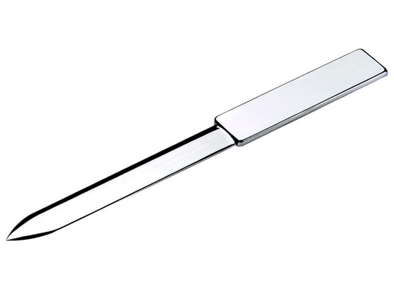 Ten Tagliacarte aprilettere Argentato Argento Classic Silver Plated - cod. EL015 - LUN.19 cm - Lar.2 cm - Alt.3, 5 cm by Varotto & Co.