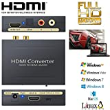 CAMWAY 1080P HDMI to HDMI Audio Extractor Converter Optical SPDIF RCA L/R Stereo Analog Video Audio Splitter Adapter