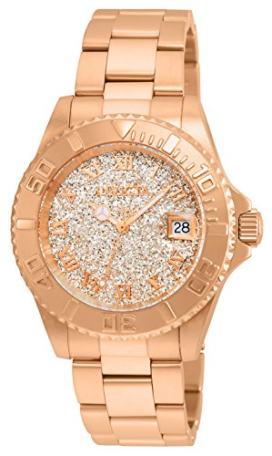 Invicta Women's Angel Quartz Watch with Stainless-Steel Strap, Rose Gold, 20 (Model: ()