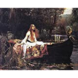 Posters: John William Waterhouse Poster Art Print - The Lady Of Shalott, 1888 (20 x 16 inches)