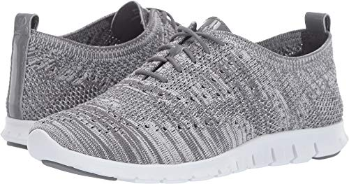 Cole Haan Women's Zerogrand Stitchlite Oxford Quiet Shade/Glacier Gray Knit/Quiet Shade Patent/Optic White 6 B US