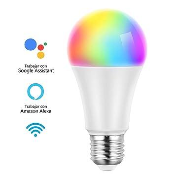 Mpow WiFi LED Bombilla Inteligente, E27 RGB 7W 600lm, Control Remoto por Teléfono,