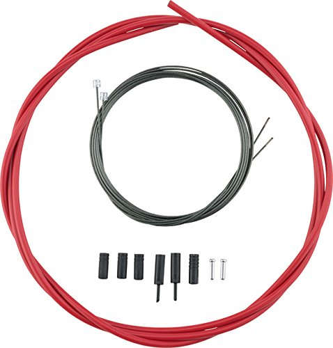 SHIMANO Optislick Derailleur Cable and Housing Set Red, One Size