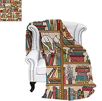 Velvet Plush Throw Blanket Nerd Book Lover Kitty Sleeping Over Awesome Book Lovers Throw Blanket