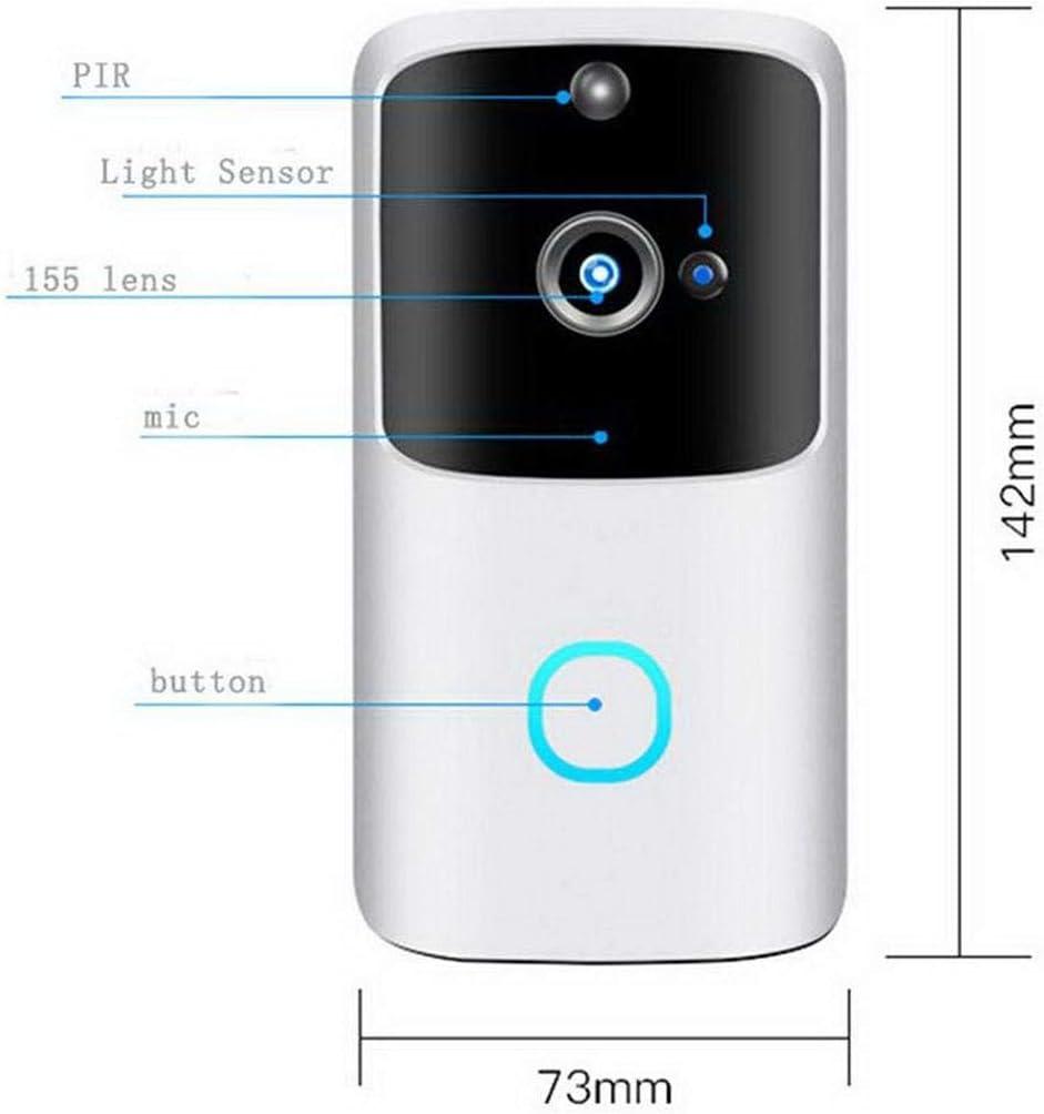 ROCONAT Intelligente elektronische drahtlose WiFi-Video-T/ürklingeln Sichern Sie visuelle T/ürklingeln f/ür die Gegensprechanlage T/ürklingeln /& T/ürglocken