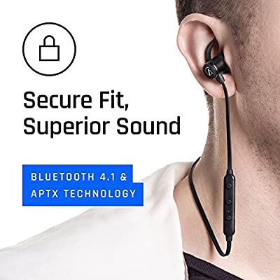 AC alienxcandy M1 Workout Bluetooth Headphones Sport Wireless headphone with Mic, IPX4 Sweatproof Maganetic Stereo Sound Noise Canceling earbuds 8 Hours Play Time, Secure Fit Wireless earphone, Black