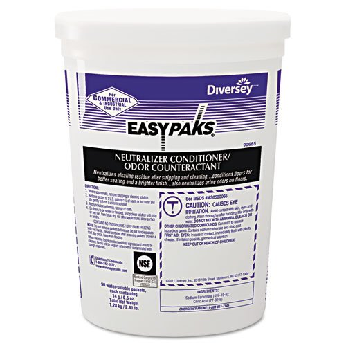 Easy Paks Neutralizer Conditioner/Odor Counteractant, Powder, 1/2 oz. Packet - Includes 90 1/2-ounce packets per tub, two tubs per case.