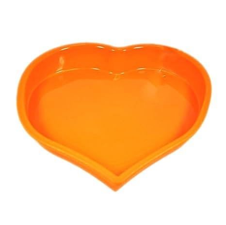Nikgic Molde de silicona para repostería con forma de corazón hacer tartas, 22 x 25